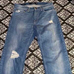 Hollister destroyed men's classic straight 28x30